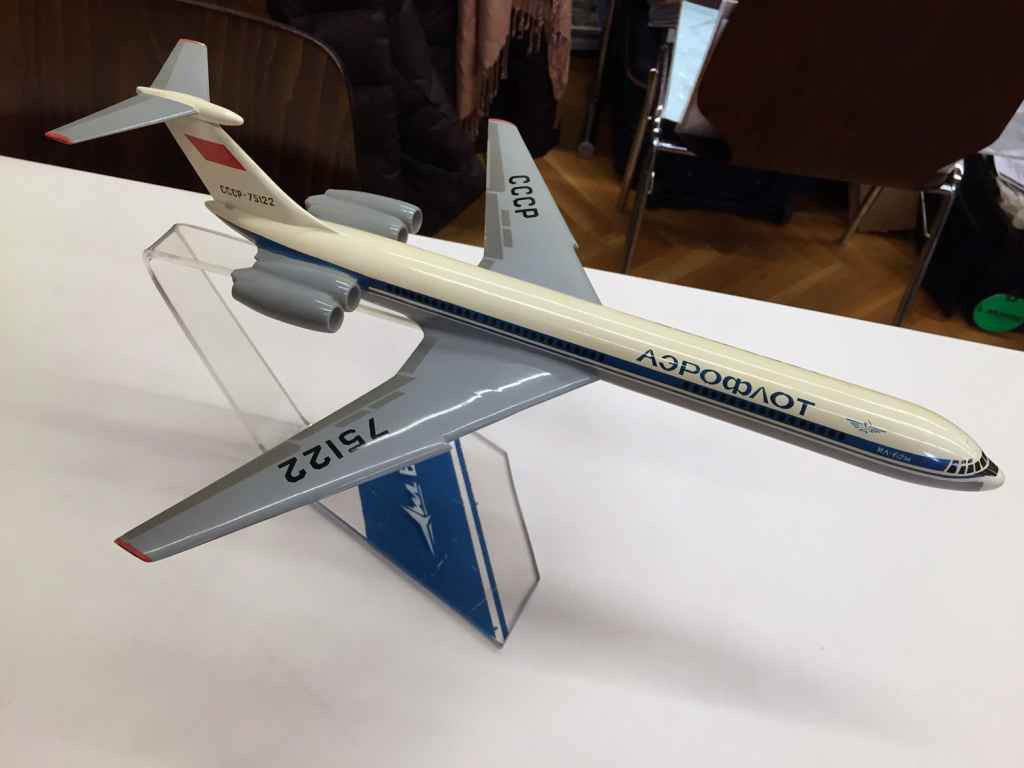 This Aeroflot IL-62 1/100 scale model was sold in seconds at the Schwanheim 2015 show. It went for a song.