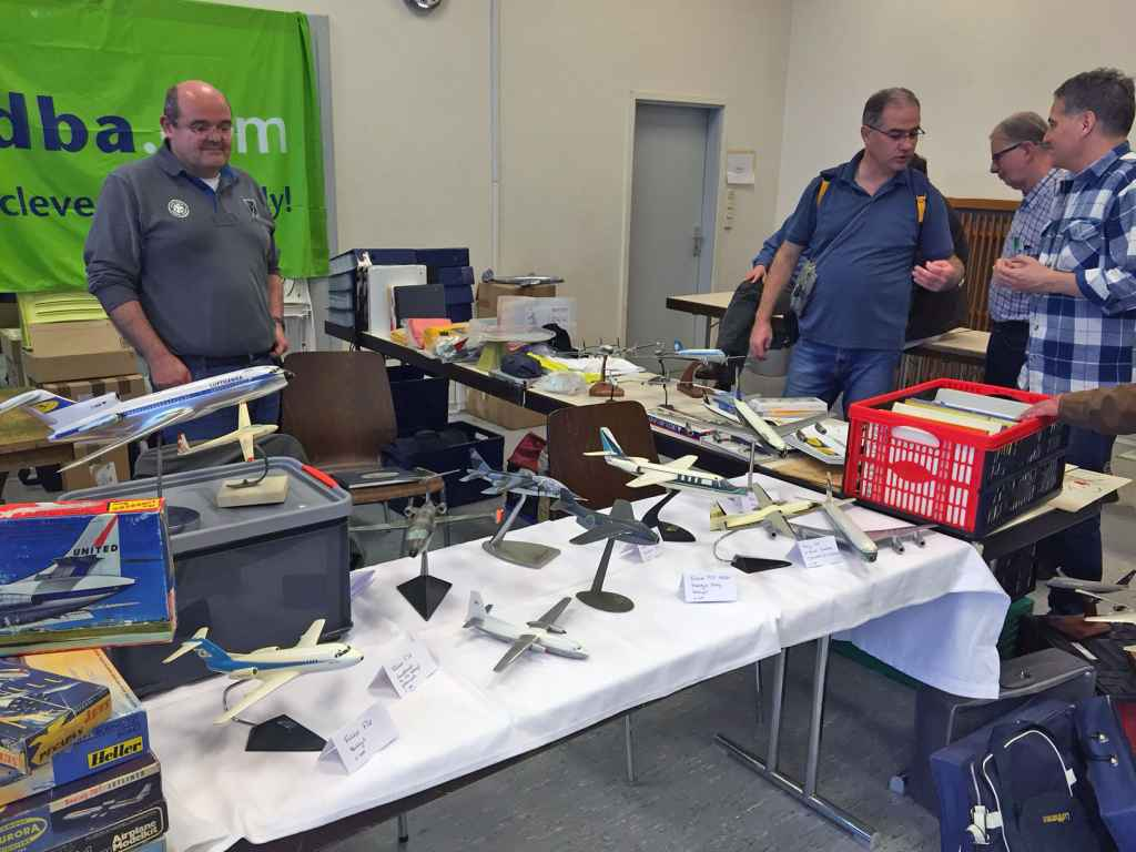 Great aircraft display models for sale at the Schwanheim airline show 2015.
