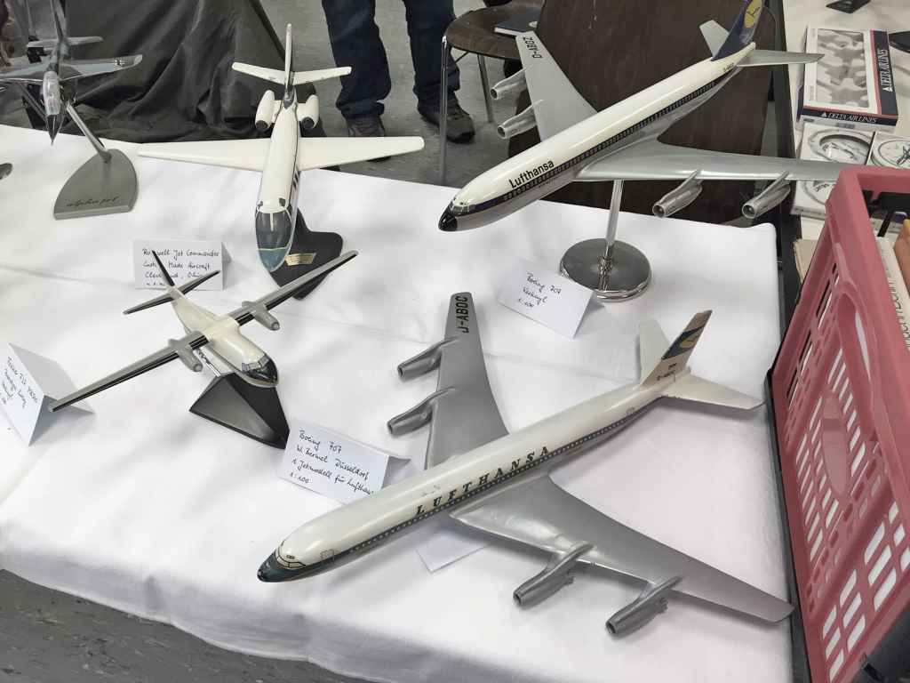 Verkuyl metal aviation models for sale at Schwanheim airline show 2015.