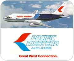 Pacific Western Airlines 737 mouse pad