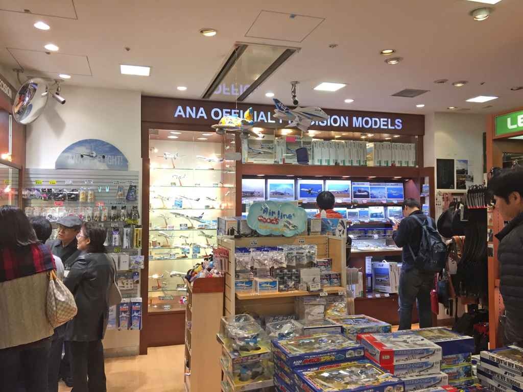 Inside view at ANA FESTA shop at Haneda airport