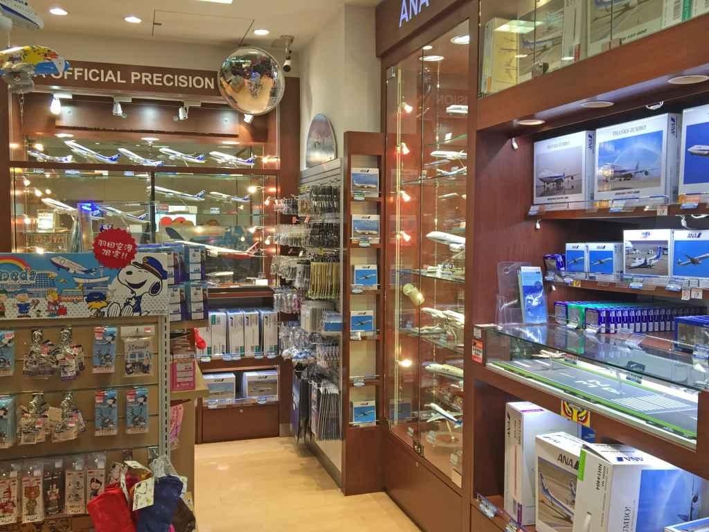 Inside view at ANA FESTA shop at Haneda airport