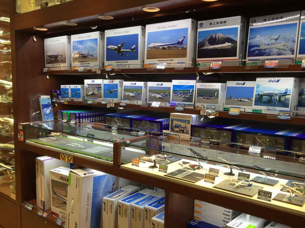General inside view at ANA FESTA shop Haneda airport.