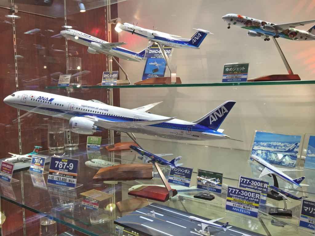 ANA Pacmin models at ANA FESTA shop Haneda airport