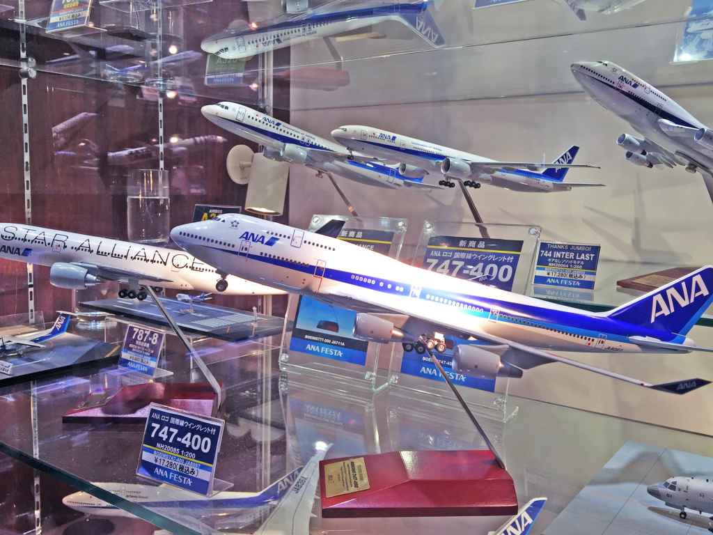 Nice assortment of ANA models at ANA FESTA shop Haneda