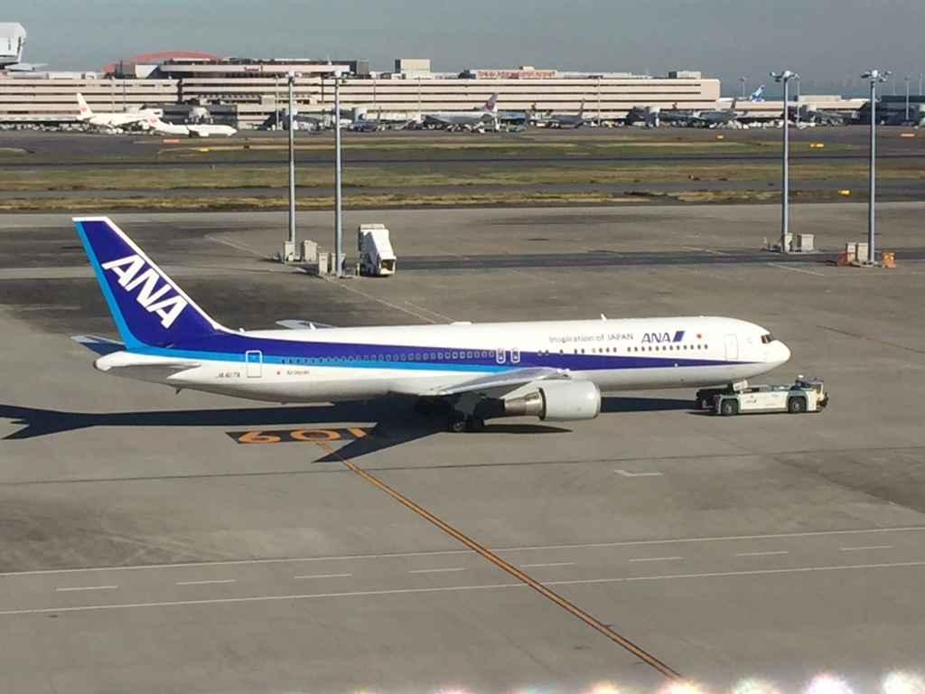 ANA 767-300 at Tokyo Haneda International Terminal