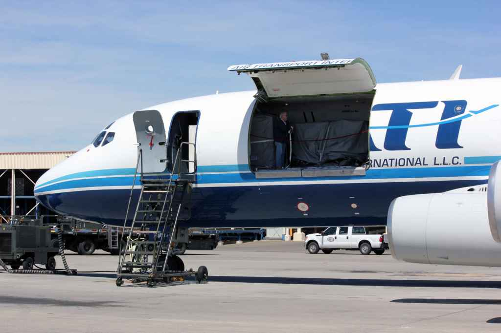 ATI DC-8-62 N799AL main deck cargo door.