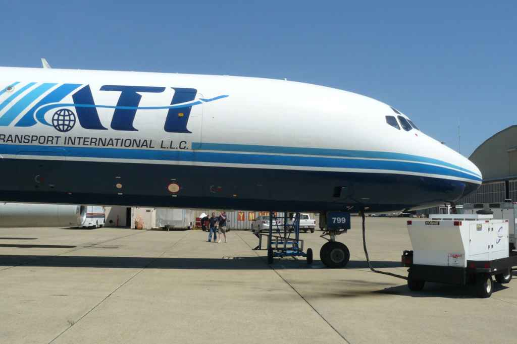 Engines are about to be started for the last ever ATI DC-8-62 departure from McClellan, on May 12, 2013.