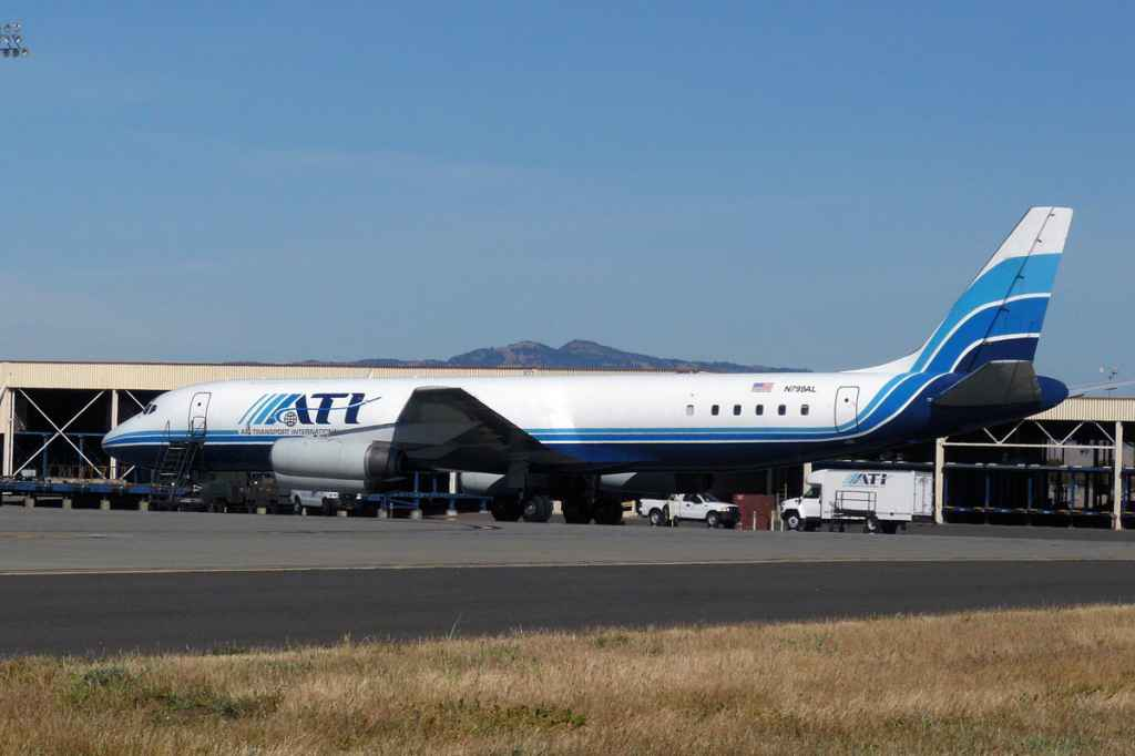 ATI DC-8-62 N799AL sits on the travis AFB for the last time on May 12, 2013.