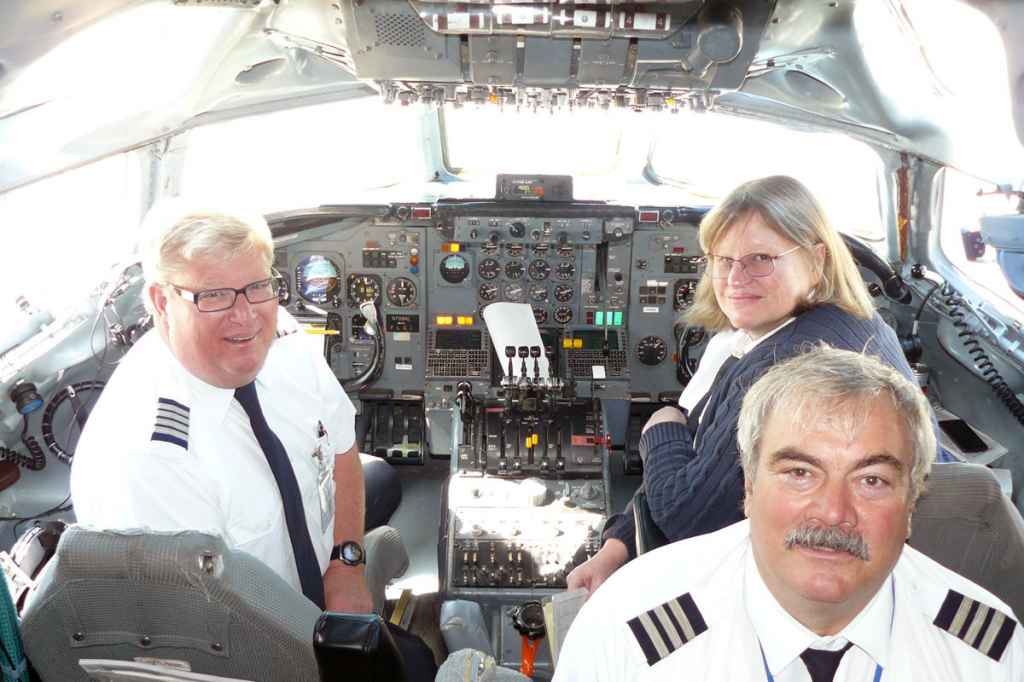 Cockpit crew for ATI DC-8-62 N799AL last flight was DC-8 Check Airman Brad Watts, First Officer Stephanie Swain (born same year as the DC-8) and Flight Engineer Scott Olson.