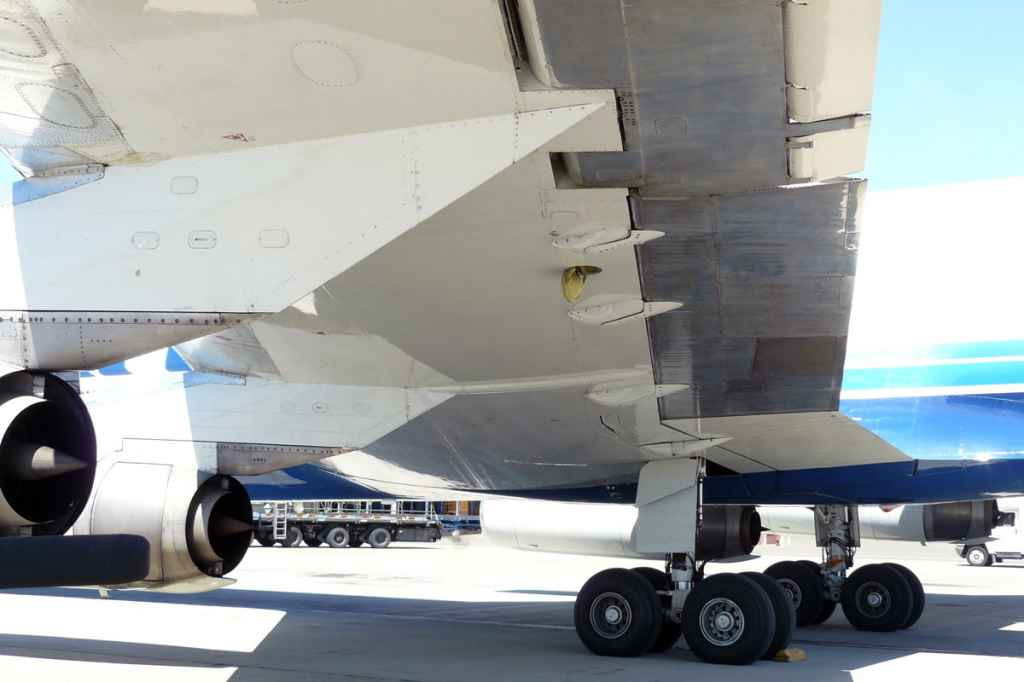 Nice under wing and engine study of ATI DC-8-62 N799AL at Travis.