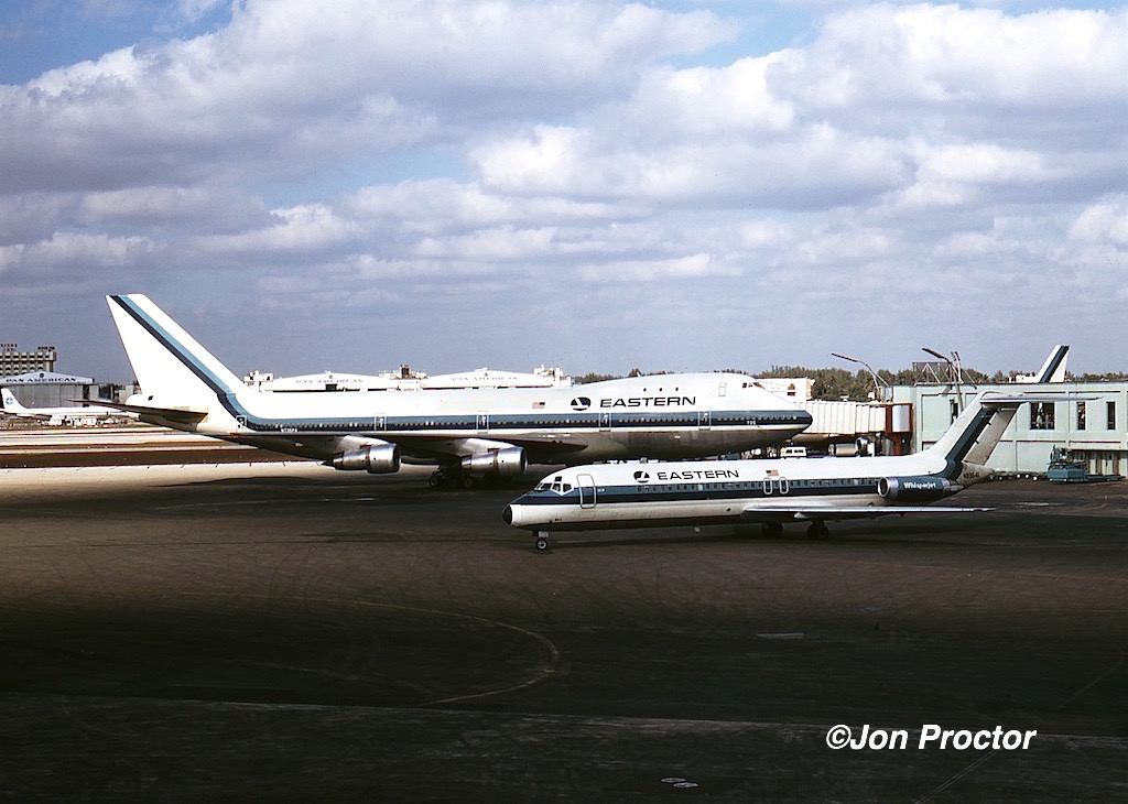 February, 1971. Eastern Airlines big boy and little boy. Both were common at Miami once upon a time. (Jon Proctor photo)