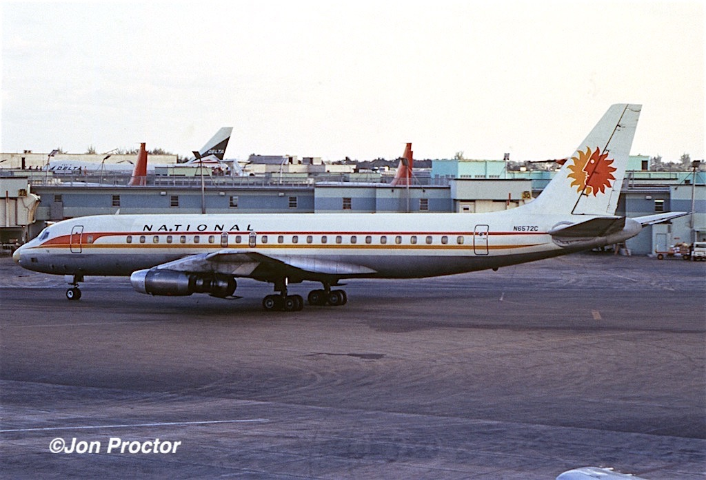 March, 1971: National DC-8-21 N6572C was a Miami regular. (Jon Proctor photo)