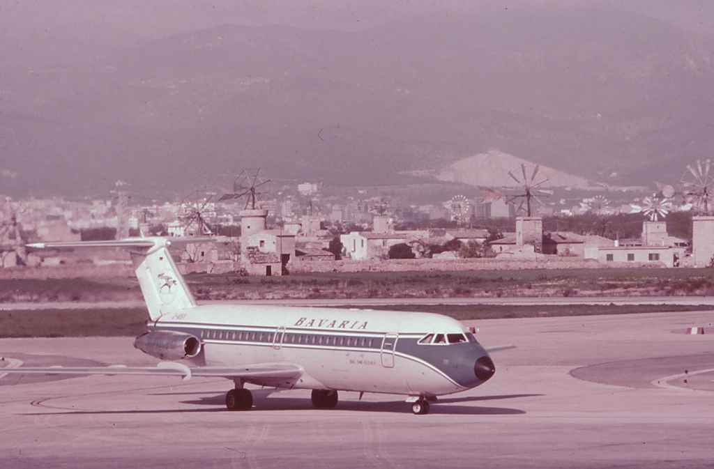 Bavaria BAC One Eleven Fun Jet at Palma early 1970s