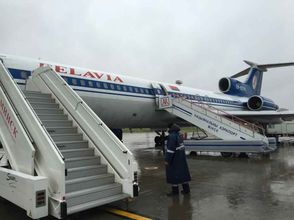 We were very lucky and pleased that the last Tu-154 flights operated from the open ramp instead of an enclosed jetway.