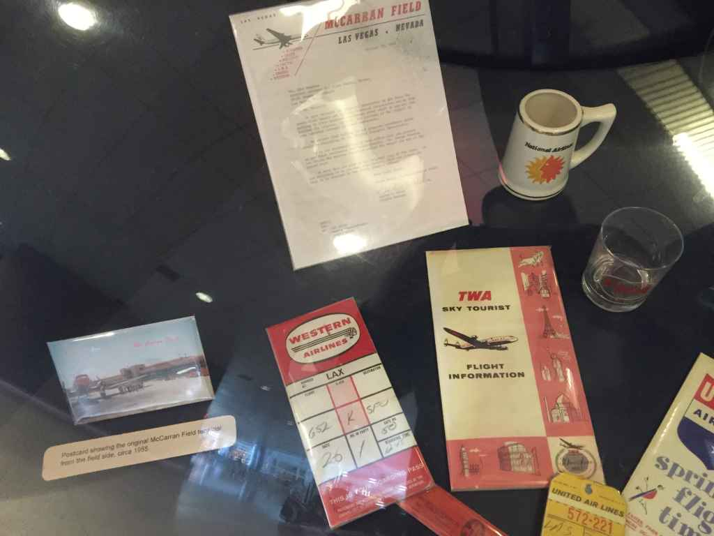 Vintage Western Airlines ticket jacket and TWA Flight Information dating from the 1950s.