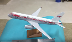 1/100 Air Koryo Tupolev Tu-204 airline display model (made in Russia)