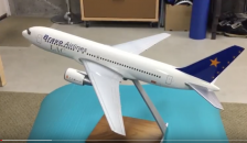 1/100 Bravo Airlines 767-200 Pacmin airline display model