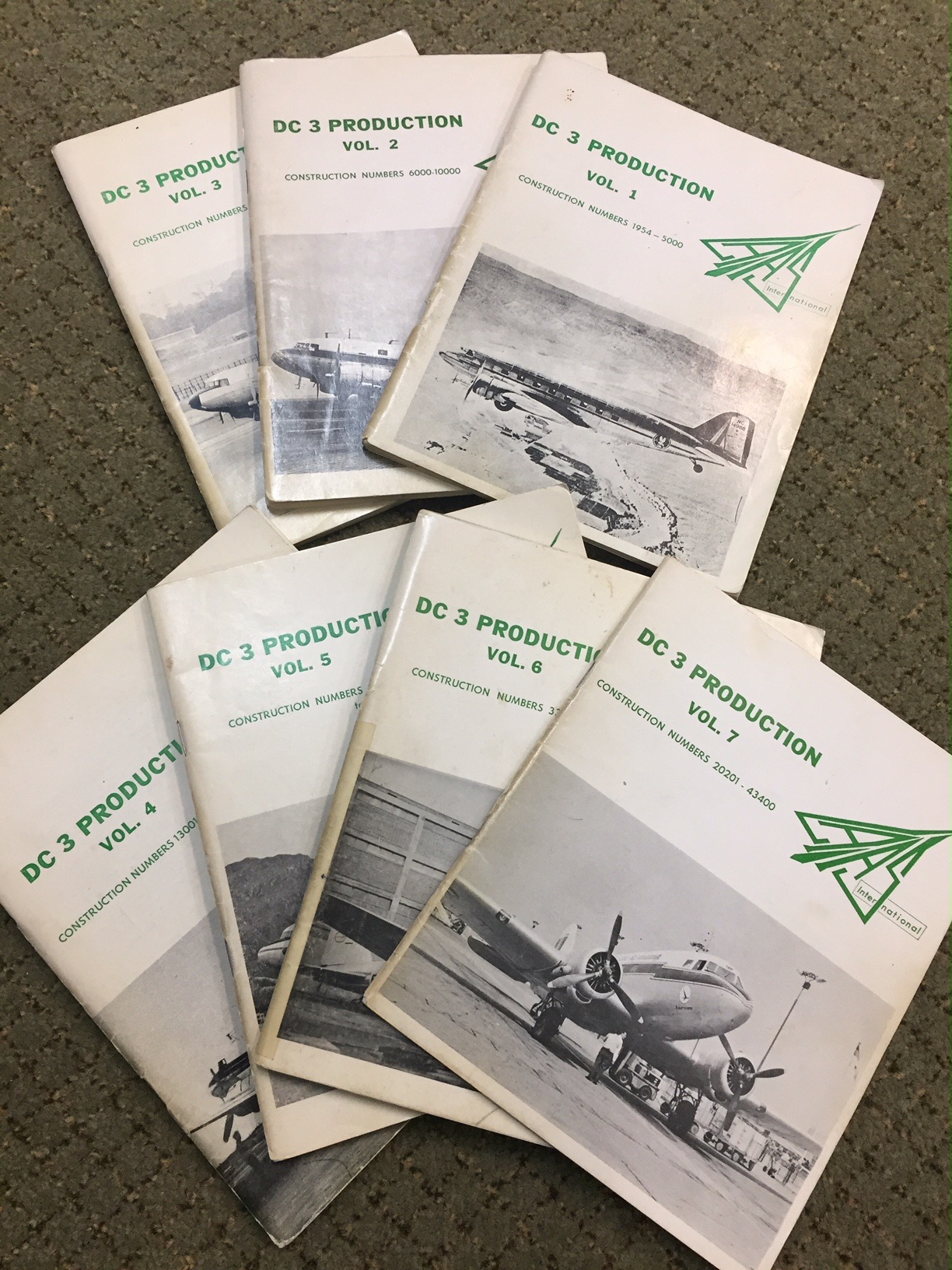 DC-3 Production List LAAS 1960s – Volumes 1, 2, 3, 4, 5, 6, 7