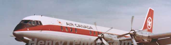 Air Canada Vanguard last flight October 31 1971