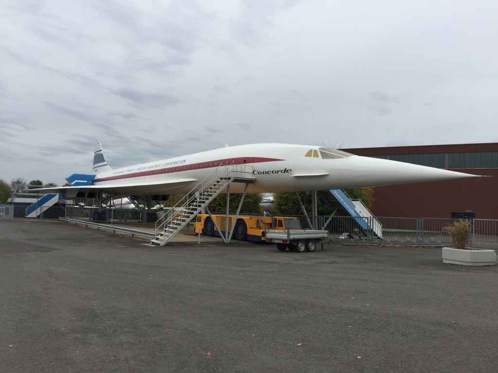 BAC Aerospacial Concorde mock-up at the Hermeskeil aviation museum in Germany.