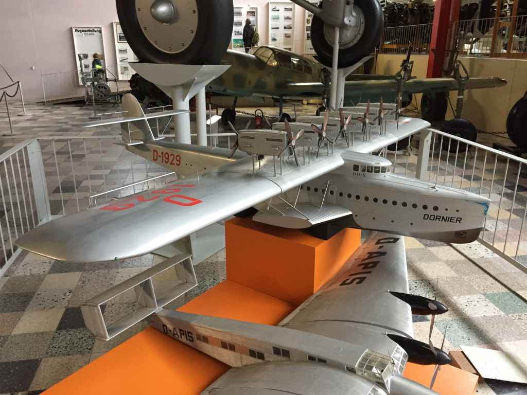 Huge model of the Dornier DoX flying boat D-1929 at the Hermeskeil aviation museum in Germany.