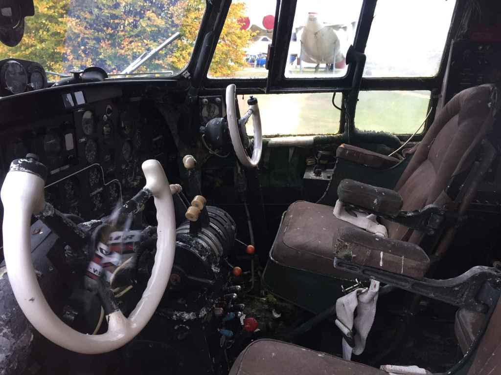 Cockpit of the Polish Air Force IL-14 at the Hermeskeil aviation museum in Germany.