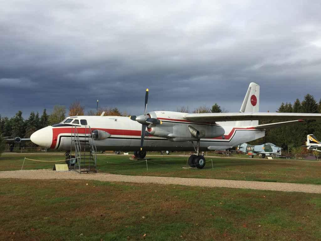 Cubana Cuba Antonov AN-24 at the Hermeskeil aviation museum in Germany.