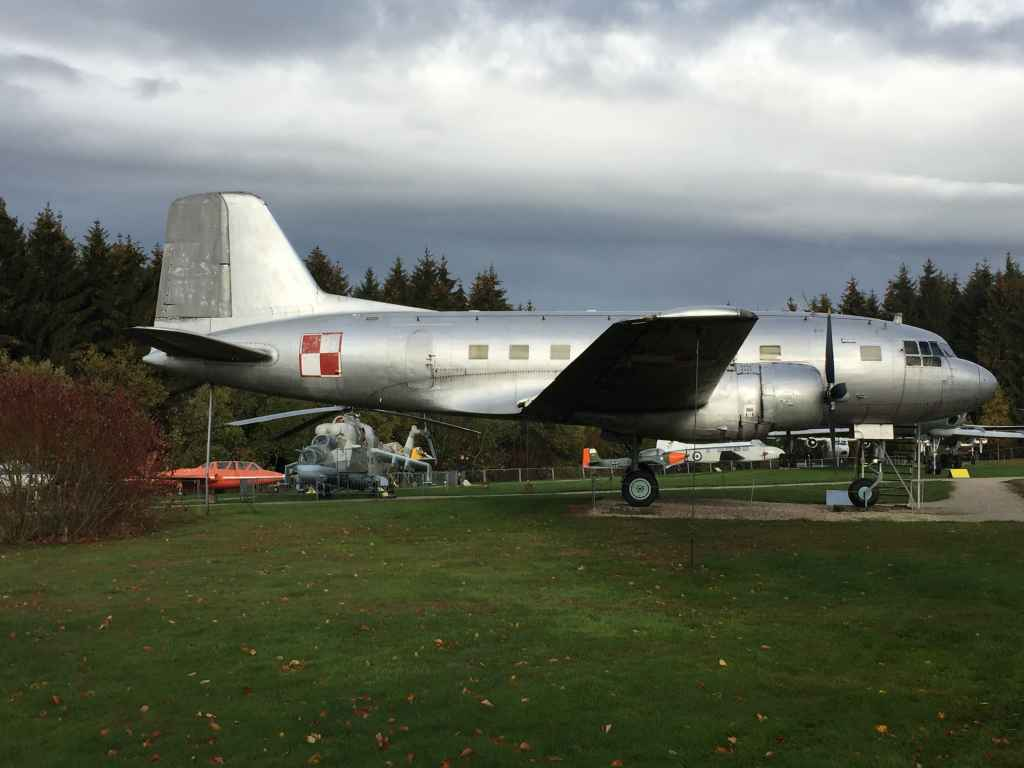 """Polish Air Force IL-14 propliner transport at the Hermeskeil aviation museum in Germany. A very """"meat and potatoes"""" all purpose transport for all sorts of uses."""