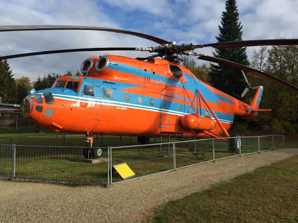 Aeroflot Mil-26 at the Hermeskeil aviation museum in Germany. When donated/acquired by the museum, the helicopter was flown by her Russian crews directly to the museum.