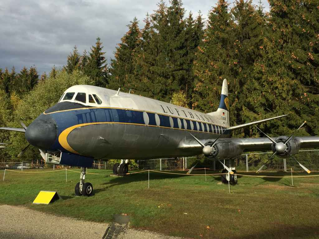 A pure classic from any angle! Lufthansa Vickers Viscount 800 D-ANUM at the Hermeskeil aviation museum in Germany.