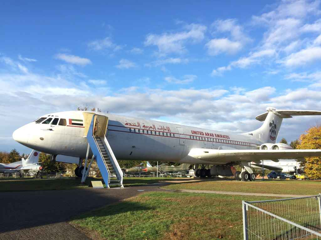 United Arab Emirates Government Vickers VC-10 now permanently rests at the Hermeskeil aviation museum in Germany. It was flown to a nearby military airfield in the early 1980s, and then disassembled and moved to the museum by road, where it was put back together.