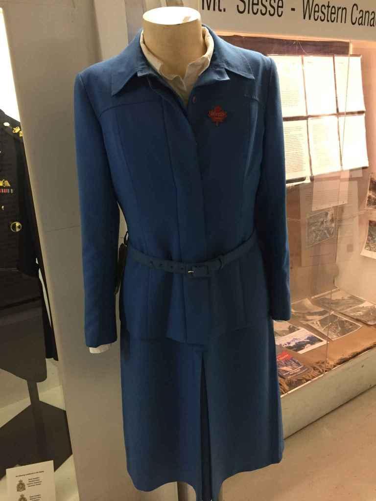 Vintage Air Canada 1990s-2000s Flight Attendant uniform at Canadian Museum of Flight