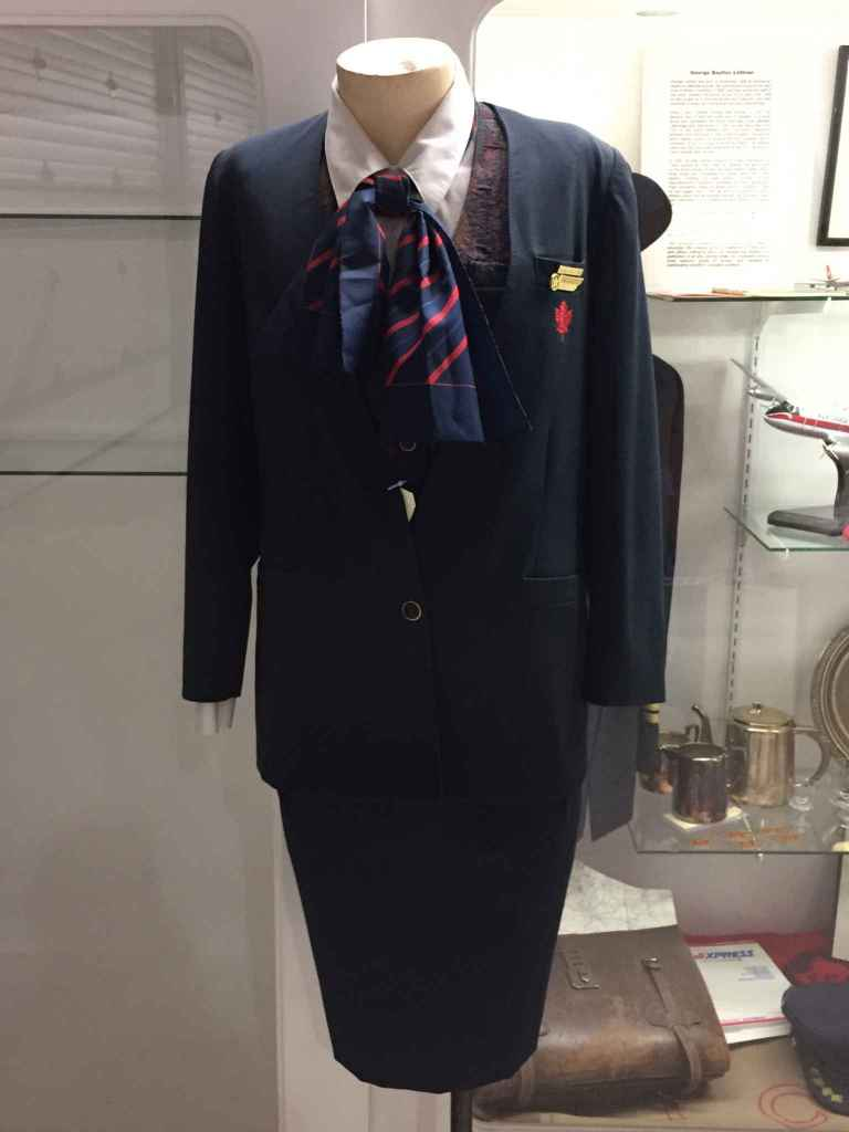 Air Canada mainline Flight Attendant uniform 2000s at the Canadian Museum of Flight in Langley, BC.