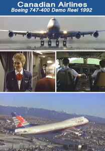 Canadian Airlines Boeing 747-400 early 1990s Video streams on http://www.jetflix.tv