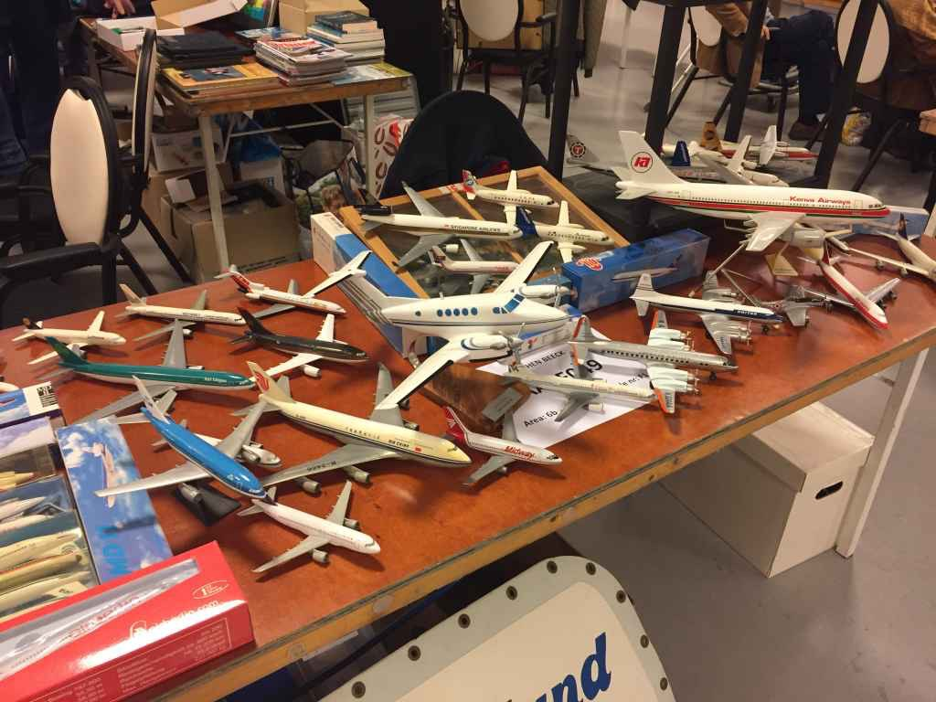 Some more modern models offered for sale at the 2019 Amsterdam Aviation Fair.