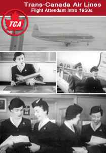 Trans Canada Airlines Flight Attendant Training on Vickers Viscounts 1950s film on JetFlix TV