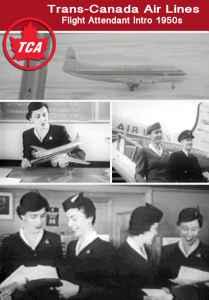 Trans Canada Airlines Flight Attendant Training on Vickers Viscounts 1950s film on JetFlix TV