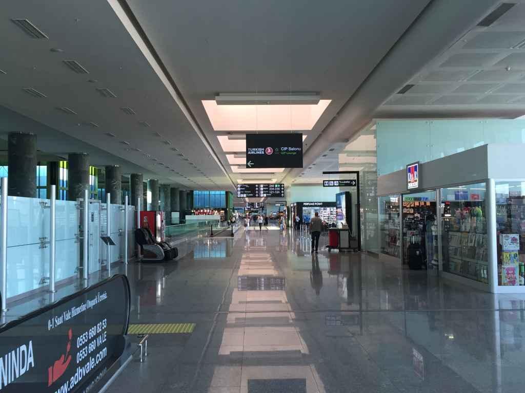 Departures gates at Izmir Airport