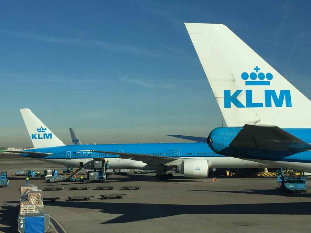 Of course KLM and Schiphol airport are joined at the hip, and have been for about 100 years now! This nice view is from the shopping concourse windows which are plentiful, once you pass through the security checks to board your flight.