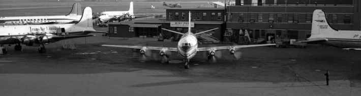 Trans-Canada Airlines Vickers Viscount on the Winnipeg ramp 1950s.