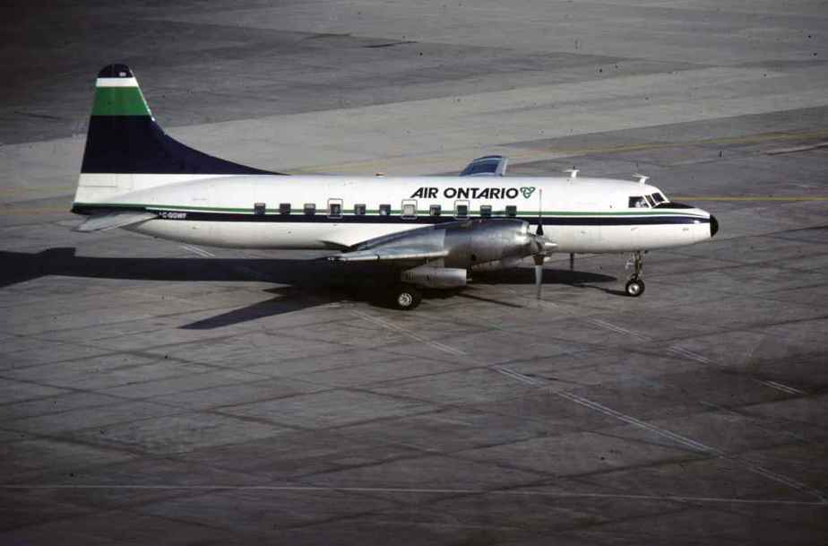 SP4629 Air Ontario CV580 C-GGWF YYZ May1985