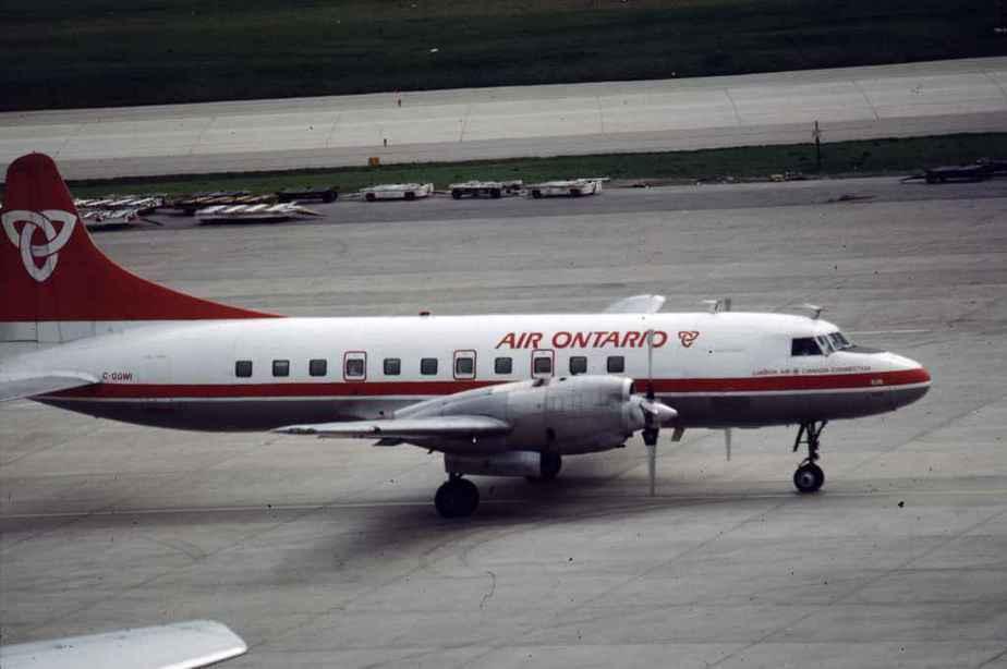 SP4631 Air Ontario CV580 C-GGWI YYZ 1988