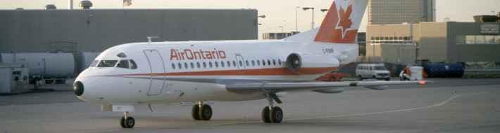 SP4635 Air Ontario F28 C-FONF YYZ 1988