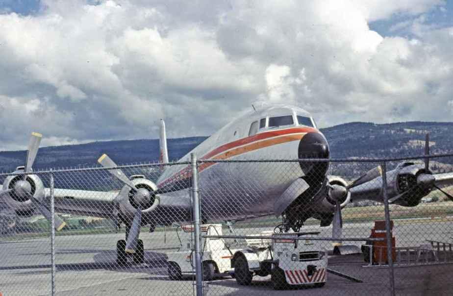 SP4669 Kelowna Flightcraft DC-6B Kelowna mid 1980's