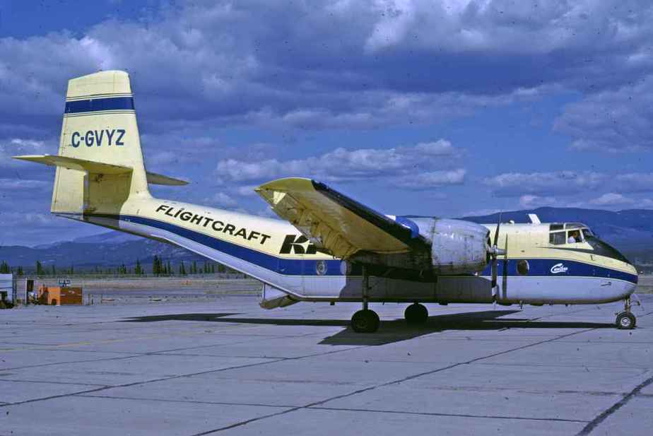 SP4671 Kelowna Flightcraft Cariboo C-GVYZ YXY July1982