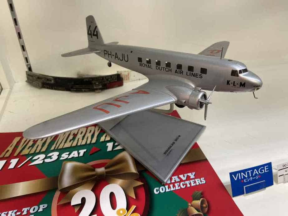 A Bob Dros made KLM DC-2 made of solid perspex is currently offered for sale in the used model section, at the Wing Club Desktop Model shop in Tokyo for 175,000 Yen.