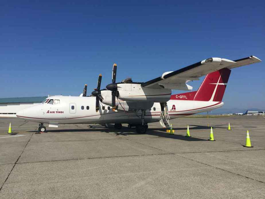 Air Tindi's Dash-7 C-GFFL was Vancouver based for the summer of 2019, operating fishing charters up the BC coast. This provided a great opportunity to charter the aircraft for our enthusiast's pleasure flight to the Abbotsford Airshow.