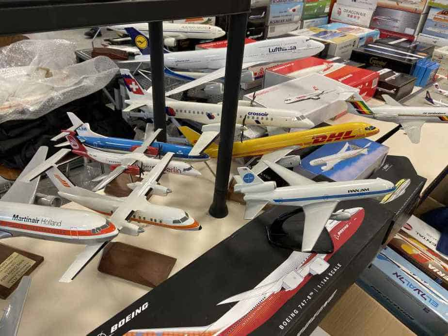 Patrick van Rooijen from Amsterdam brought a fabulous selection of models for sale to the Frankfurt Schwanheim airline show in November 2019.