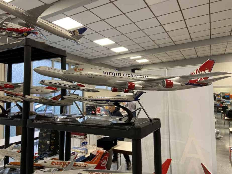 Patrick van Rooijen from Amsterdam brought a fabulous selection of models for sale to the Frankfurt Schwanheim airline show in November 2019, including this Schreiner Airways Dash-8 by Space Models.